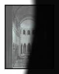 Laurence Aëgerter, Cathédrales Hermétiques, Saint-Benoit 12th century, 2015, silkscreened ultrachrome print, which reveals when exposed to sunlight, 85 x 65 cm, 2/6 + 2 AP