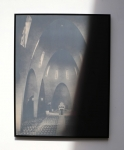 Laurence Aëgerter, Cathédrales Hermétiques, Saint Jeanne d'Arc, Nice, 20th century, 2015, silkscreened ultrachrome print, which reveals when exposed to sunlight,  85 x 65 cm, 3/6 + 2 AP
