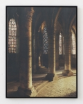 Laurence Aëgerter, Cathédrales Hermétiques – vitraux, Cathedral of Our Lady of Chartres I, 13th century, 2016, Silkscreened ultrachrome print, which reveals when exposed to sunlight, 85 x 65 cm, 6 + 2 AP