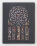 Laurence Aëgerter, Cathédrales Hermétiques – vitraux, Cathedral of Our Lady of Chartres III, 13th century, 2016, Silkscreened ultrachrome print, which reveals when exposed to sunlight, 85 x 65 cm, 6 + 2 AP