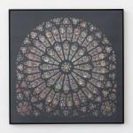 Laurence Aëgerter, Cathédrales Hermétiques – vitraux, Notre-Dame de Paris, 14th century, 2016, Silkscreened ultrachrome print, which reveals when exposed to sunlight, 85 x 85 cm, 6 + 2 AP