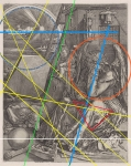Laurence Aëgerter, Melancholia (Dürer), Silkscreened ultrachrome print, framed 24 x 19 cm, Ed. 6 + 2 AP
