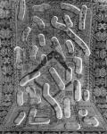 Jaya Pelupessy, Carpet #1, 2019, from the series Flatten Image | Direct negative photograph, framed, passe-partout, museum glass | 45 x 32.5 cm | Unique