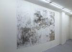 Tanja Engelberts, Petroleum Borealis, 2018, 280 x 200 cm, ed. 5 + 2 AP Silkscreen with tar sand