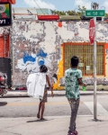 Street Crossing in Little Haiti, 2018, from the series FloodZone | Archival Pigment Print or Dye-Sublimation Print on Metal | 100 x 80 cm and 127 x 100 cm | ed. 2/5