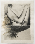 Margaret Lansink, Tender, 2019 | collage printed on Kizuki handmade Washi paper, embroidery, mended with 23Kt goldleaf | 33 x 24.5 cm | ed. 3 + 2 AP