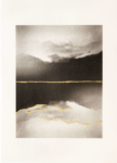 Margaret Lansink, Mono no Aware, 2019 | collotype print by Benrido Atelier on handmade Washi paper, reworked by Margaret with 23Kt gold leaf | 56,5 x 41 cm | ed. 2 + 1 AP SOLD OUT