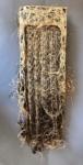 Diana Scherer, Diana Scherer Exercises in Rootsystem Domestication #1 45x20cm kopie, 2020 | Plantrootweaving in perspex frame | 45 x 20cm | unique