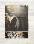 Margaret Lansink, Meander, 2019 | collage printed on Kizuki handmade Washi paper, mended with 23Kt gold leaf | 40 x 31 cm | ed. 3 + 2 AP