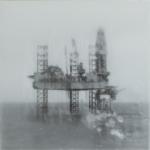 Tanja Engelberts, Forgotton sea 2, 2021 | Digital print mounted on steel, paraffine | 48 x 48 cm | unique