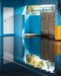 Anastasia Samoylova, Blue Courtyard, Hollywood, 2019, from the series Floridas   Archival Pigment Print or Dye-Sublimation Print on Metal   100 x 80 cm, 100 x 127 cm   ed. 5 + 2 AP