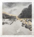 Margaret Lansink, Wa, 2021 | collage printed on Kizuki handmade Washi paper, mended with 23Kt gold leaf | 40,5 x 45 cm | ed. 3 + 2 AP