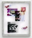 Jaya Pelupessy, Collage #2 - Manufactured Manual, 2021 | Four colour exposure on the silkscreen | Aluminium silkscreen, plexiglass, wood | 73 x 62 x 4 cm | Unique