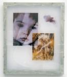 Jaya Pelupessy, Collage #4 - Manufactured Manual, 2021 | Four colour exposure on the silkscreen | Aluminium silkscreen, plexiglass, wood | 73 x 62 x 4 cm | Unique