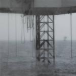 Tanja Engelberts, Forgotten seas (I), 2020 | Digital print, paraffin, aluminium | 120 x 120 cm | Unique