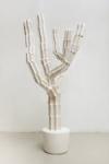 Maura Biava, Magic Heptagram #03, 2021   Ceramic, iron, plaster, glue, silicon   140 x 76 cm   Pedestal 60 x 57 cm, wood, glue, paint, varnish   Unique