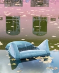 Anastasia Samoylova, Blue Velvet Chair, 2020, from the series Floridas   Archival Pigment Print or Dye-Sublimation Print on Metal   100 x 80 cm, 127 x 100 cm   ed. 5 + 2 AP